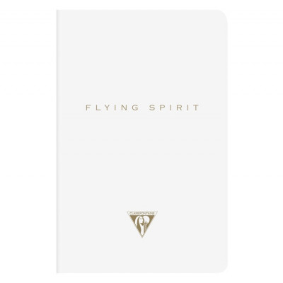 Carnet A5 ligné 96p - Flying Spirit - Blanc - Clairefontaine