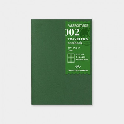 Recharge 002 - Carnet quadrillé 64p - Passport size - Traveler's Notebook