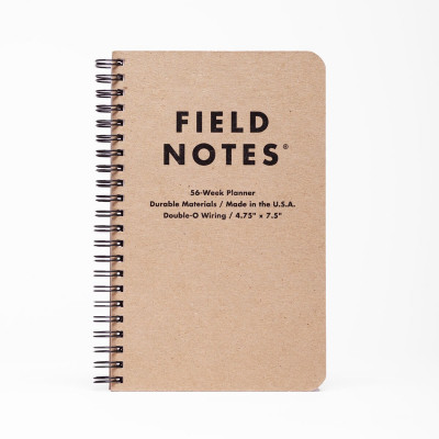 Planner universel à spiral 56 semaines - Field Notes