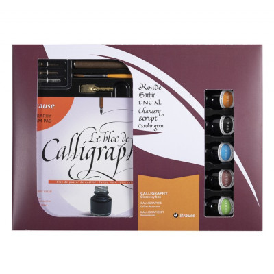 Grand coffret de calligraphie - Brause