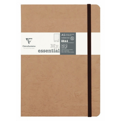 Carnet A5 dot 192p - Tabac - Age Bag - Clairefontaine