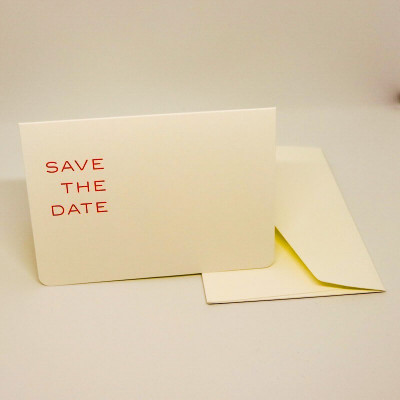 Carte A6 double SAVE THE DATE + enveloppe - Le Typographe