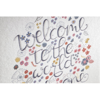 Carte WELCOME TO THE WORLD + enveloppe - Multifolia