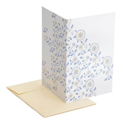 Carte GOLD AND BLUE + enveloppe - Multifolia
