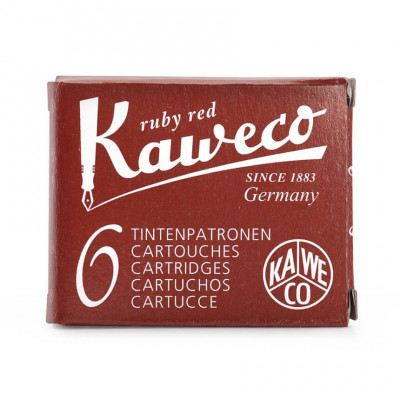6 cartouches d'encre - Rouge - Ruby Red - Kaweco