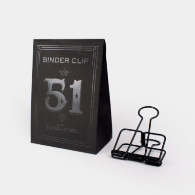 Binder clips - 51mm - 3 pièces - Noir - Tools To Liveby