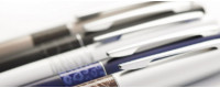 A wide selection of ballpoint pens, fountain pens...